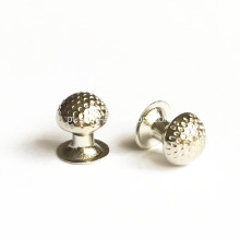 Metal Half-Ball Rivets Dot Effect Cap com Post 8mm